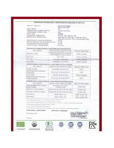 Maca peruánská – 100% čistý extrakt z kořene, certifikát